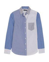J.Crew | Blue Cocktail Striped Cotton-poplin Shirt | Lyst