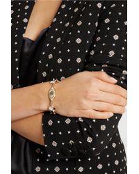 Alexander McQueen - Metallic Gold-tone, Swarovski Crystal And Faux Pearl Bracelet - Lyst