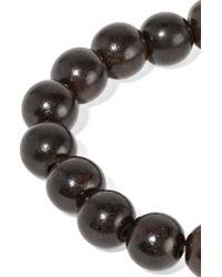 Loree Rodkin - Brown Spider Om 18-karat Gold, Diamond And Wood Bracelet - Lyst