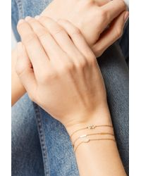 Jennifer Meyer - Metallic Mini Clover 18-karat Gold Diamond Bracelet - Lyst