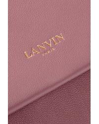 Lanvin - Pink Sugar Mini Leather Shoulder Bag - Lyst