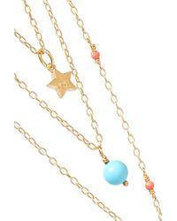 Iam By Ileana Makri - Metallic Thunder Star Gold-plated Multi-stone Necklace - Lyst