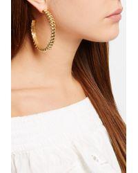 Rosantica - Metallic Atena Gold-tone Hoop Earrings - Lyst