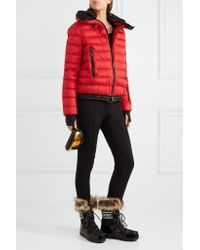 Moncler Grenoble Red Vonne Hooded Quilted Down Jacket