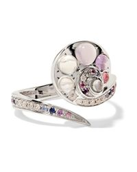 Venyx - Multicolor 18-karat White Gold Multi-stone Ring - Lyst