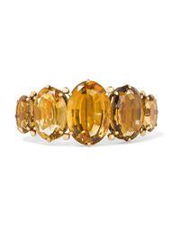 Fred Leighton - Metallic 1890s 14-karat Gold Citrine Bracelet - Lyst