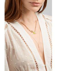 Chan Luu - Metallic Tasseled Gold-plated Beaded Necklace - Lyst