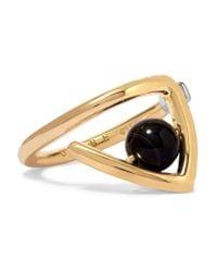 Uribe | Metallic Zaha Gold-plated Agate Ring | Lyst