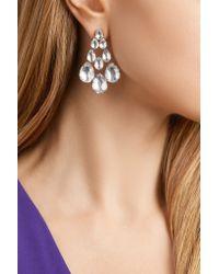 Larkspur & Hawk - Metallic Caterina Rhodium-dipped Quartz Earrings - Lyst