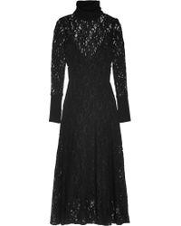By Malene Birger | Black Palomos Corded Lace Midi Dress | Lyst