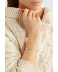 Monica Vinader - Metallic Skinny Bar Rose Gold Vermeil Diamond Bracelet - Lyst
