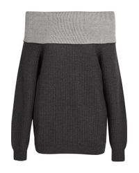 Maiyet - Gray Off-the-shoulder Cashmere-blend Sweater - Lyst