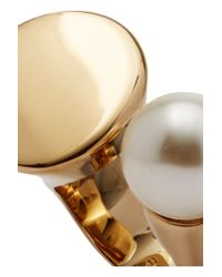 Chloé - Metallic Darcy Gold-tone Swarovski Pearl Ring - Lyst