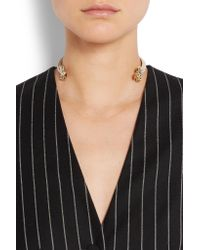 Givenchy | Multicolor Gold-tone Faux Pearl Choker | Lyst