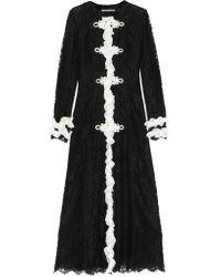Alessandra Rich | Black - Ruffled Lace Maxi Dress - Women - Silk/cotton/polyamide/viscose - 38 | Lyst