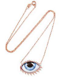 Lito - Multicolor + Zeus+dione Tu Es Partout 14-karat Rose Gold Enamel Necklace - Lyst