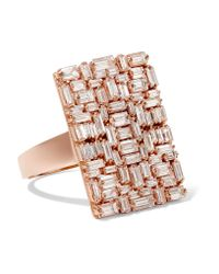 Suzanne Kalan - Multicolor 18-karat Rose Gold Diamond Ring - Lyst