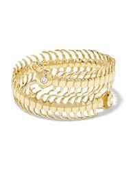 Daniela Villegas | Metallic Baby Centipede 18-karat Gold, Diamond And Sapphire Ring | Lyst