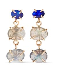 Melissa Joy Manning | Metallic 14-karat Gold, Labradorite And Opal Earrings | Lyst