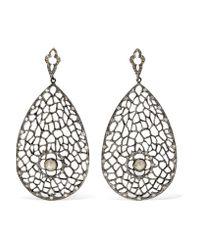 Loree Rodkin - Metallic 18-karat Rhodium White Gold Diamond Earrings - Lyst