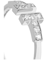 Tiffany & Co. - Multicolor T Wire 18-karat White Gold Diamond Ring - Lyst