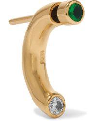 Iam By Ileana Makri - Metallic Pipe Gold-plated Zircon Earring - Lyst