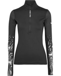 Nike | Black Pro Hyperwarm Printed Stretch-jersey Top | Lyst