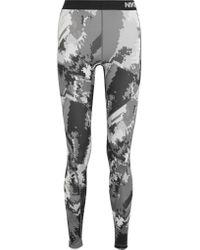 Nike | Gray Pro Hyperwarm Printed Dri-fit Stretch-jersey Leggings | Lyst
