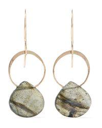 Melissa Joy Manning - Metallic 14-karat Gold And Labradorite Earrings - Lyst