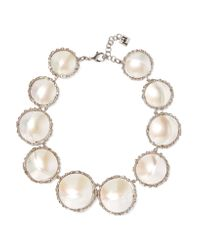 Rosantica - Metallic Carducci Palladium-tone Mother-of-pearl Necklace - Lyst