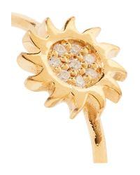 Aamaya By Priyanka - Metallic Sun Gold-plated Topaz Ring - Lyst