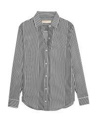 MICHAEL Michael Kors | Black Corsican Striped Chiffon Shirt | Lyst