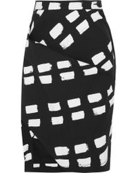 Vivienne Westwood Anglomania   Black Accident Printed Stretch-cotton Twill Skirt   Lyst