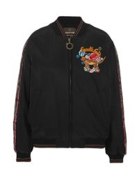 Roberto Cavalli | Black Embellished Embroidered Silk Bomber Jacket | Lyst