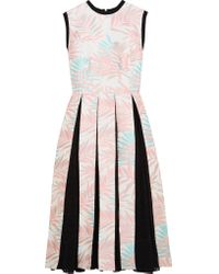 House of Holland | Multicolor Palm Leaf Jersey-trimmed Jacquard And Fil Coupé Dress | Lyst