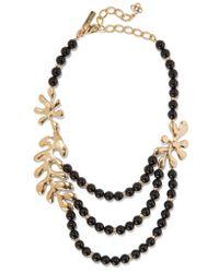 Oscar de la Renta | Black Sea Tangle Gold-plated, Jet And Swarovski Crystal Necklace | Lyst