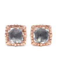 Larkspur & Hawk | Multicolor Bella Rose Gold-dipped Quartz Earrings | Lyst