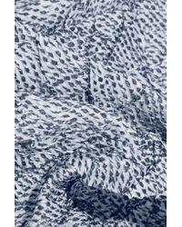 ADEAM - Blue Organza Bustier Top - Lyst