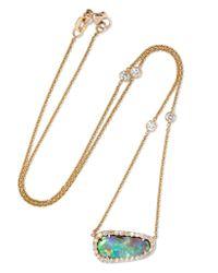 Kimberly Mcdonald | Metallic 18-karat Gold, Opal And Diamond Necklace | Lyst