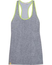 Monreal London | Gray Perforated Stretch-jersey Racer-back Tank | Lyst