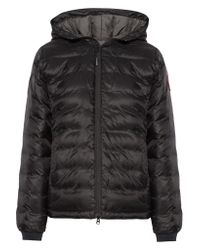 Canada Goose   Black Camp Hooded Quilted Shell Down Jacket   Lyst