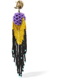 Etro - Purple Beaded Earrings - Lyst