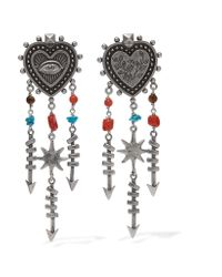 Valentino | Metallic Silver-tone Beaded Earrings | Lyst