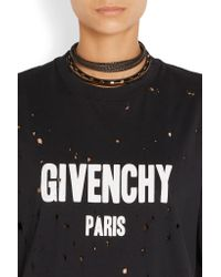 Givenchy | Black Gold-tone And Leather Choker | Lyst