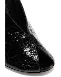 Isabel Marant - Black Meirid Cracked-leather Slingback Sandals - Lyst