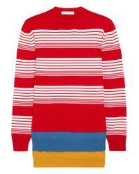 J.W.Anderson | Layered Striped Merino Wool Sweater | Lyst