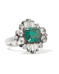 DANNIJO | Metallic Beacon Silver-tone Crystal Ring | Lyst