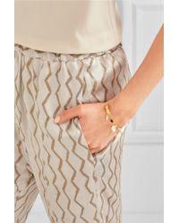 Isabel Marant | Metallic Gold-tone Bone Bracelet | Lyst