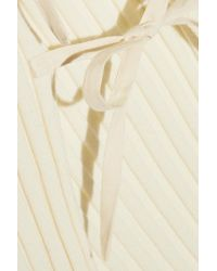 Jacquemus - Natural Tie-side Ribbed Wool Top - Lyst