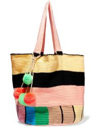 Sophie Anderson | Multicolor Jonas Pompom-embellished Woven Tote | Lyst